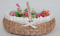 36*32*14cm wicker storage fruit  flower picnic basket