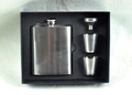 hip flask Retail-- 7oz Hip Flask gift set Stainless Steel Whiskey Pocket Alcohol flask flagon with 2 cups+1 funnel