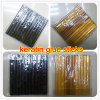 Human Hair Extension Tools-24pcs 0.7*10cm Keratin Glue Sticks Fusion Glue,Black/Blonde,2 Colors In Stock Optional