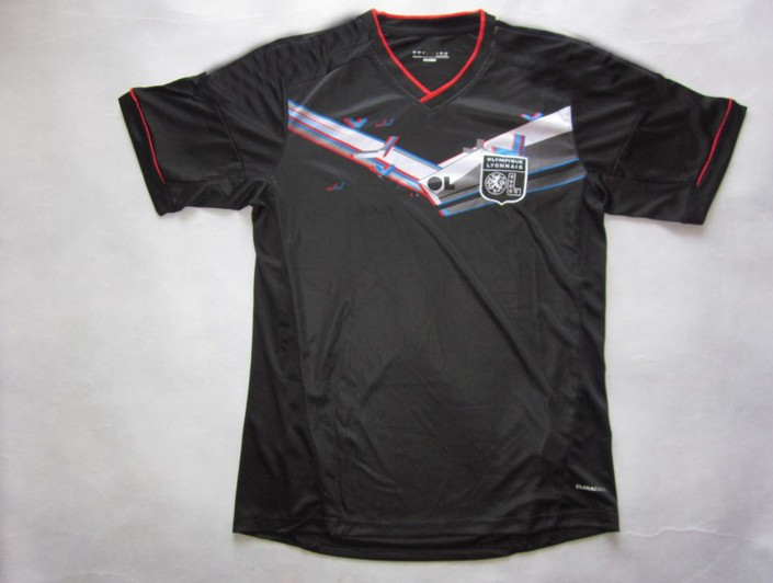 hot sell ! lyon soccer jersey, 1213 best thai quality lyon away black soccer football jersey, sizeSMLXL(China (Mainland))