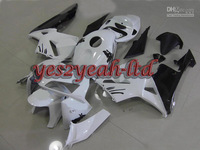 Injection Mold For 2005 2006 HONDA CBR600RR CBR 600RR F5 CBR600 RR 05 06 Classical White blk Fairing