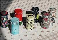 Hot selling 10pcs/lot Zakka Groceries Cotton Swabs Toothpick Small Round Cans Cylindrical Little Tin Box Jewellery Gift Boxes