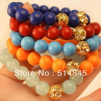 New fashion accessories candy color bead full rhinestone beads bracelet women bracelet bangles B5060 (Min.Order $10.Mix Order)