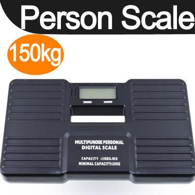 Portable Digital Bathroom Body Weight Scale 150KG 100g Black, Free & Drop Shipping(China (Mainland))