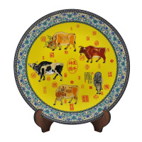 Achievo Large decoration plate decoration disk home decoration crafts