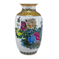 Achievo home Large vase ceramic floor rich opening gifts crafts