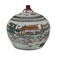 Gorgeous vintage storage tank candy jar tea caddy furnishings sugar bowl Large
