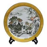 Achievo ceramic decoration plates hanging plate crafts decoration home decoration furnishings