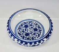 Achievo lusterware handmade blue and white ceramic brush washer water decoration