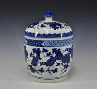 Achievo jingdezhen ceramic storage tank snack cans storage tank pickles tank classical home decoration