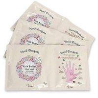 Free shipping/ 6pcs/lot/ shea butter milk nutrition gloves hand film white gloves hand film