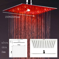 2mm Ultra Thin High Quality Rain Shower,LED Shower Head,Overhead Shower