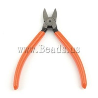 Free Shipping, Plier For Jewelry, iron and plastic, wire cutter, 110x145x12mm, Sold by PC