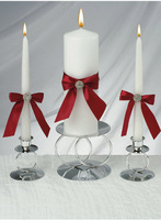 Red Allure Unity Candle Set for Wedding Decoration Party Favors Gifts Stuff Supplies Free Shipping