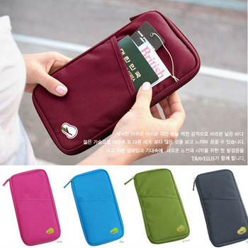 Travel Passport ID Card Key Hand Zipper Case Bag Pouch Wallet YHF-0024