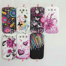 Chinese Quintessence Plum blossom Style Colorful Flower and Butterfly Design Plastic Case For Samsung Galaxy S3 S III i9300(China (Mainland))