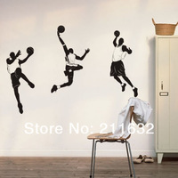 Free Shipping NBA Basketball Player Themed Home Decor Wall Sticker Wall Decal
