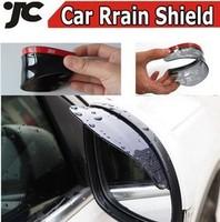 2 Pieces Free Shipping 2013 Fashion Car Rrain Shield Flexible Peucine 2 colors Car Rear Mirror Guard Rearview mirror Rain Shade