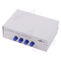 4 Ports VGA Manual Share Switch Switcher Selector Splitter DP-15-4C 11146