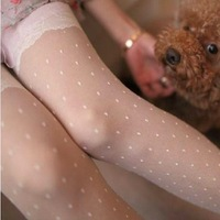 3pcs free shipping Stockings ultra-thin lace socks white plaid dot stockings women pantyhose  tights