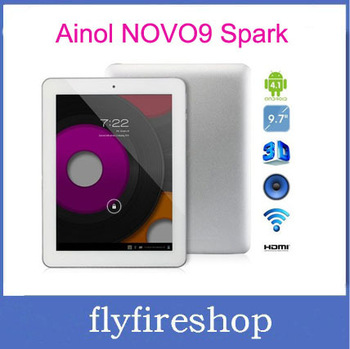 "In stock ainol novo 9 firewire novo9 spark 9.7"" IPS Retina Screen Allwinner A31 quad core Android 4.1 2GB 16GB tablet pc"