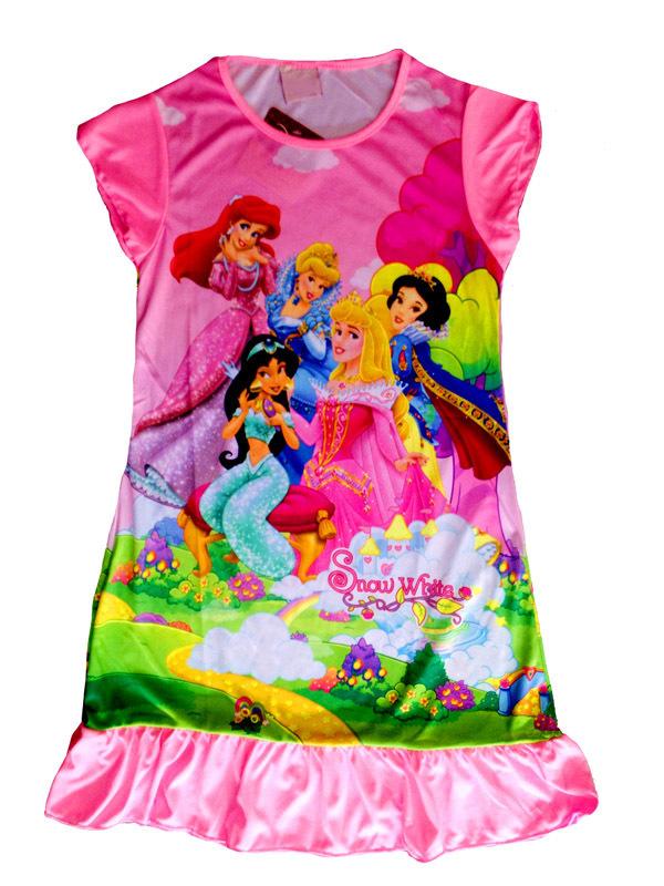 079I 4 pieces in 1 lot baby sleepwear nightgowns FREE SHIPPING sleep children's night dress little girl's girls pink bathrobes(China (Mainland))