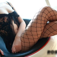 Black/Red/White Women's Sexy big mesh fishnet pantyhose sexy stockings fishnet tights hot ss006-Free shipping