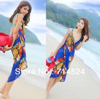 2013 New Sexy Chiffon Summer Sea Beach Bohemia One-piece Dress ,Free Size ,Free shipping , Retail & Wolsale