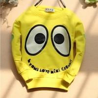 2014 world cup 4pcs/lot baby boys girl cartoon Big eyes T-shirts long sleeves shirt t shirts for children 2-5years free shipp
