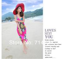 2013 Hot Sexy Chiffon Summer Sea Beach Bohemia Suspender  One-piece Dress ,Free Size ,Free shipping , Retail & Wolsale