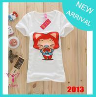 2014 summer Hot sell Fashion Good Quality Cotton T Shirt Women Tops T-shirts Ladies clothes TS-031-2