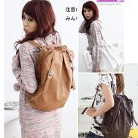 Fashion Korean Style Girls' PU Leather Schoolbag Handbag Shoulders Bag Camel / Coffee / White