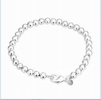 Free shipping 925 sterling silver jewelry bracelet fine fashion bead bracelet top quality wholesale and retail SMTH114