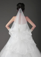 Veil wedding dress accessories bridal veil style single tier veil big laciness
