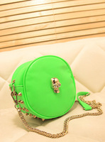 2013 new fashion ladies bags, fluorescent color rivet package,crossbody bag,ladies fashion handbags