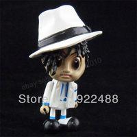 "Free shipping 1pcs Michael Jackson MJ Moonwalker Cute Figure Dolll 3"""