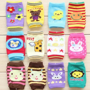 Baby crawling kneepad child small 100% cotton kneepad elbow wrist support cuish baby socks set leg cover