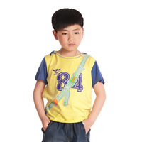 Kids Summer T-Shirts for Little Boys Hooded Casual Tops, Free Shipping K0462