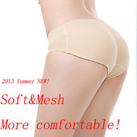 2013 summer sexy women new soft&mesh seamless Bottoms Up underwear/Body Shaper sliming pant/bottom pad panties
