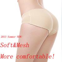 2014 summer sexy women new soft&mesh seamless Bottoms Up underwear/Body Shaper sliming pant/bottom pad panties