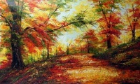 Hot sale!100% handmade oil painting - Scenery of grove