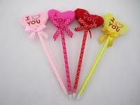 New arrival lovers pen 4 colors heart plush pen ball-point pen free shipping