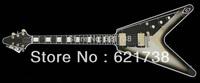 best china guitar 2007 Custom Shop Limited Edition Flying V Custom Ebony - Silverburst!! OEM
