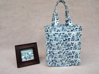 Handbag shopping bag lunch bag tote pvc cotton cloth compound material Small gift bag