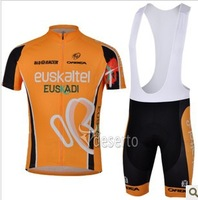 Free Shipping!! 2013 new   Euskaltel    team cycling jersey + bib shorts  SIZE S-XXXL