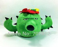 "Plants Vs Zombies toy  Plush Doll decorations soft stuffed toys cactus 7.5"" cute plush  toys for children free shipping"