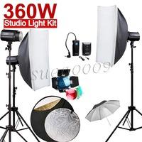 NEWEST 360Ws GODOX 3*120Ws Pro Photography Studio Strobe Flash Light 360W Kit