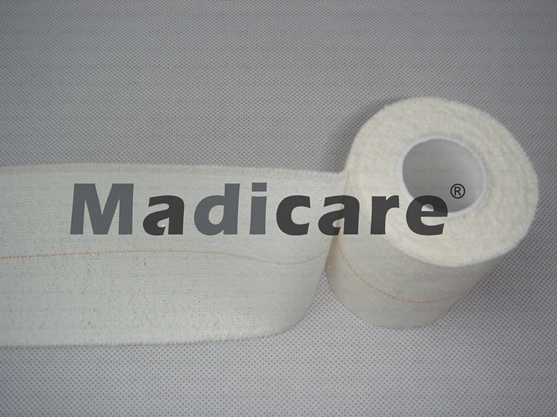 Free Shipping Heavy Stretch Tape Elastic Adhesive Bandage EAB with middle line sports tape 5cm x 4.5M(China (Mainland))