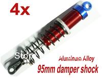 4x 95mm Alloy Damper shock for 1/8 1/10 Off road Buggy RC Kyosho MP6 Improved