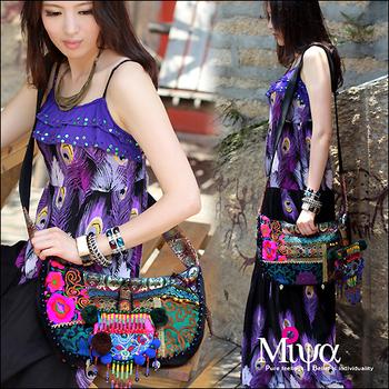 FREE SHIPPING National wind embroidery trend india small bag messenger bag canvas bag national women's handbag